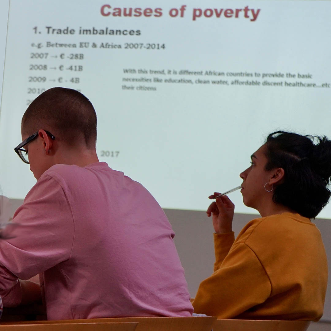 Studying the underlying causes of poverty in preparation of taking action as a solidarity worker.