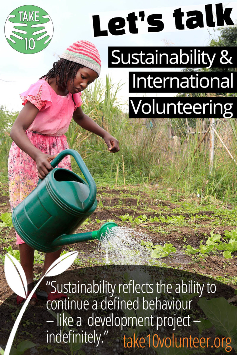 Sustainability and International volunteering