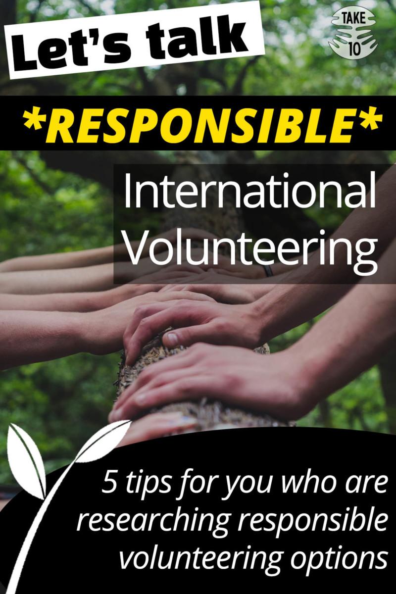 Let's Talk: Responsible International Volunteering – 5 tips
