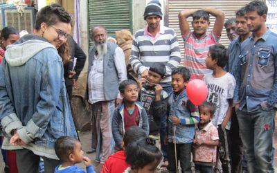 School work in the Jaipur slums